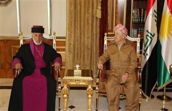 بارزاني يستقبل وفد كنيسة المشرق الآشورية في منتجع صلاح الدين