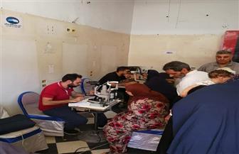 """قافلة """"مستقبل وطن"""" الطبية تجرى الكشف على 250 مواطنا لمرضى العيون فى الغربية   صور"""