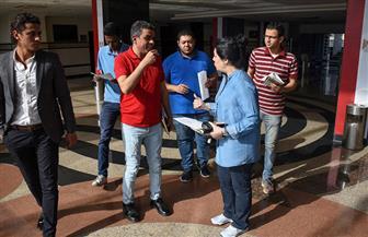 جهاد عامر تتفقد إستاد الدفاع الجوي لوضع  التوزيع المبدئي للشباب  المتطوعين  صور