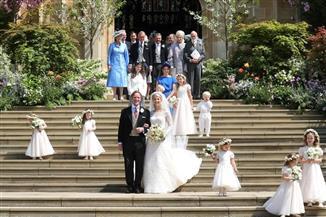 أطفال العائلة الملكية يخطفون الأنظار خلال زفاف الليدي جابرييلا| صور