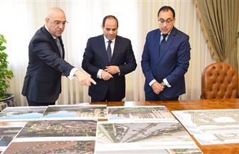 الرئيس السيسي يجتمع مع مدبولي والجزار لمناقشة مشروعات الإسكان | صور