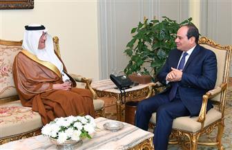 الرئيس السيسي يستقبل سفير المملكة العربية السعودية بالقاهرة