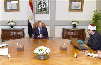 الرئيس السيسي يجتمع بمدبولي وجمعة لاستعراض جهود الأوقاف في مجال الدعوة