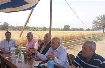 زراعة الغربية تنفذ تجربة لترشيد استهلاك المياه بحقل إرشادي للقمح