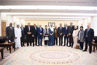 رئيس مجلس الأمة الكويتي يلتقي وفدا من رؤساء تحرير الصحف المصرية | صور