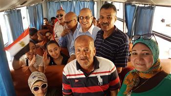 """""""صيفنا مميز"""" يطلق أولى رحلاته المجانية بحضور وكيل وزارة الشباب ببورسعيد"""
