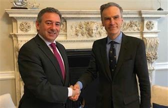 سفير مصر في لندن يلتقي وزير الدولة البريطاني الجديد لشئون الشرق الأوسط