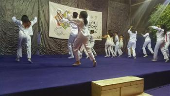 """أطفال """"الإسماعيلية للفنون الشعبية"""" يبهرون الجماهير بشبرا الخيمة في رمضان"""