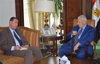 رئيس الأعلى للإعلام يلتقي السفير الفلسطيني بمقر المجلس| صور