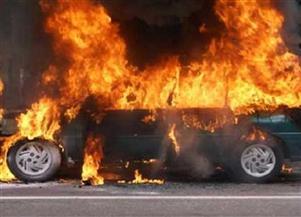 بسبب ارتفاع درجة الحرارة.. حريق سيارة نقل ثقيل بالعاشر من رمضان