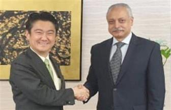 سفير مصر بطوكيو يبحث مع  وزير العدل الياباني تعزيز التعاون القانوني والقضائي المشترك