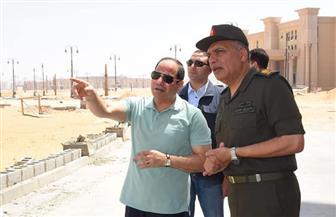 تفاصيل زيارة الرئيس السيسي للمشروعات الإنشائية الكبرى بالعاصمة الإدارية الجديدة| صور