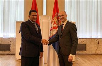 سفير مصر في بلجراد يبحث مع وزير حماية البيئة الصربي التعاون في إدارة المخلفات والمدن الخضراء| صور