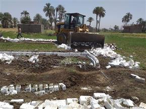 إزالة 8 حالات تعد على الأراضي الزراعية وأملاك الدولة بسوهاج | صور
