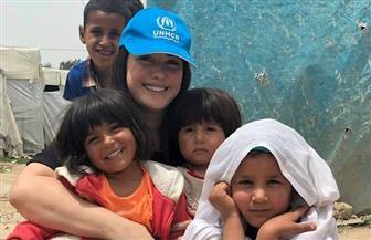 عمرو يوسف وكندة علوش في زيارة لمخيم اللاجئين السوريين في لبنان | صور