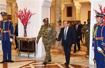 تفاصيل لقاء الرئيس السيسي مع رئيس المجلس العسكري الانتقالي السوداني