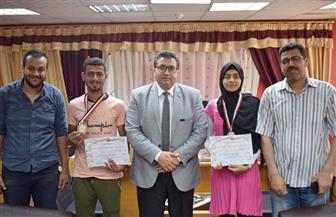 تكريم الفائزين على مستوى الجمهورية من مدرسة طلاب الصم بإدارة طور سيناء|صور
