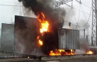 حريق في محول كهرباء داخل مرشح لمياه الشرب في قرية الدير جنوب الأقصر
