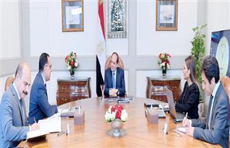 الرئيس السيسي يجتمع مع رئيس الوزراء ووزيرة الاستثمار والتعاون الدولي | فيديو