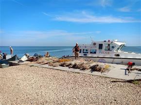حملة إزالة للتعديات على محمية بحيرة البرلس.. وضبط أدوات صيد الأسماك المخالفة | صور