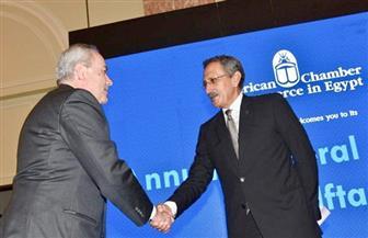 شريف كامل يتسلم رئاسة غرفة التجارة الأمريكية بالقاهرة خلفا لطارق توفيق