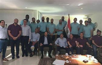 سفير مصر في أنجولا يكرم بعثة نادي سموحة لكرة السلة|صور
