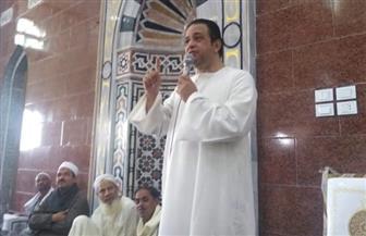 علاء عابد يفتتح مسجد يوسف الصديق بقرية عرب الحصار