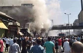 اندلاع حريق هائل في الموسكى.. والدفع بـ10 سيارات إطفاء للسيطرة على النيران