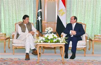 الرئيس السيسي يستقبل رئيس وزراء باكستان بمقر إقامته في مكة المكرمة