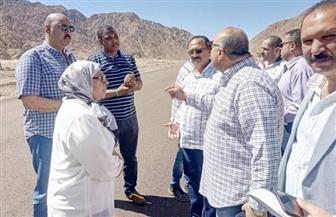 """""""نقل البرلمان"""" تتفقد طريق """"دهب - نويبع"""" أثناء زيارة اللجنة جنوب سيناء"""