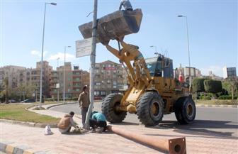 رئيس جهاز 6 أكتوبر: تغيير كشافات الصوديوم لكشافات ليد بمحور 26 يوليو من ميدان جهينة حتى طريق الواحات|صور