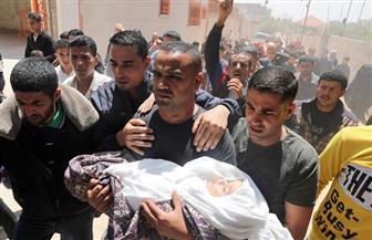أم ورضيعة فلسطينية ..آخر ضحايا الغارات الجوية على غزة | صور