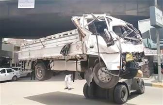 قرارات من النيابة في حادث سقوط سيارة نقل من أعلى كوبري ناهيا على  مرور العجوزة