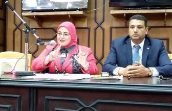 """وكيلة """"تعليم كفر الشيخ"""" تناقش إجراءات اختبارات الصف الأول الثانوي الإلكترونية   صور"""