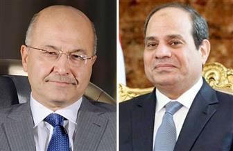 الرئيس السيسي يتلقى اتصالا من نظيره العراقى لتهنئته بحلول شهر رمضان