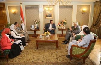 وزير التعليم العالي يستقبل السفير العراقي بالقاهرة | صور