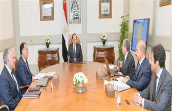 الرئيس السيسي يجتمع مع رئيس الوزراء ووزيري الكهرباء والري