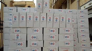 """تجهيز 1100 كرتونة سلع غذائية و350 كيس مطهرات لأهالي """"كفر جعفر"""" بالغربية"""