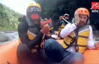 حالة من الرعب والخوف تنتاب وائل جسار أمام الغوريلا | صور