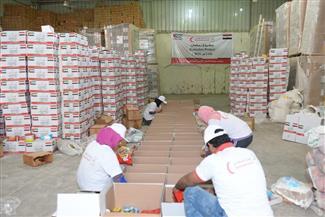 تعاون بين الهلال الأحمر الإماراتي والأورمان لتوزيع كراتين رمضان