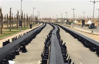 ننشر صور التجهيزات النهائية لأطول مائدة إفطار في العالم بطول 3000 متر