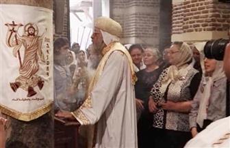البابا تواضروس يترأس قداس عيد دخول المسيح إلى مصر |صور