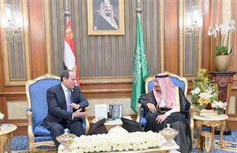 الرئيس السيسي يلتقى الملك سلمان.. ويؤكد: زيارتي للسعودية تأتي اتساقا مع مسيرة العلاقات بين البلدين
