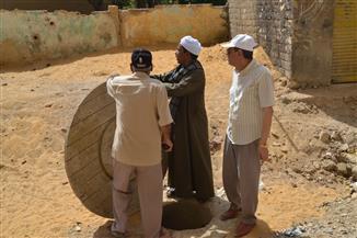 محافظة السويس تتابع إحلال وتجديد الصرف الصحي بمنطقة تل القلزم