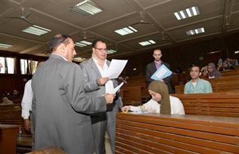 نائب جامعة أسيوط يتابع أعمال امتحانات نهاية العام الجامعي | صور