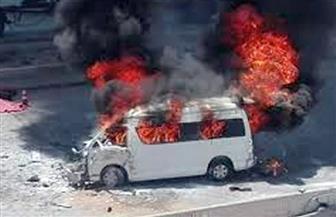 ننشر تفاصيل إضرام النيران في ميكروباص بداخله جثة بالشروق