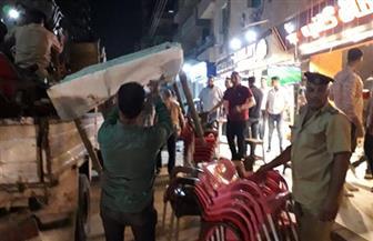 محافظ الغربية: إزالة إشغالات المقاهي والمحلات في عدد من شوارع حي أول وثاني طنطا | صور