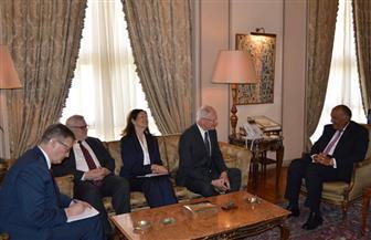 وزير الخارجية يستقبل المبعوث الأمريكي للتحالف الدولي ضد داعش | صور
