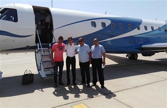 حارس ريال مدريد الإسباني يغادر مطار الغردقة بطائرة خاصة | صور
