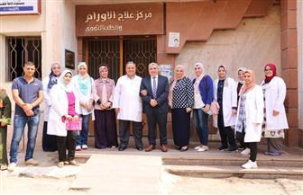 نائب رئيس جامعة طنطا يزور مركز علاج الأورام الجامعي | صور
